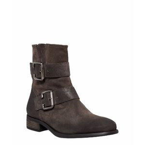Paul Green Carrie Brown Suede Moto Ankle Boots